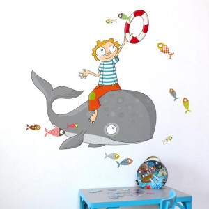AD-Zif - Autocollant Mural - Poissons Volants