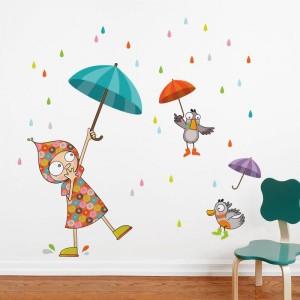 AD-Zif - Autocollant Mural - Dansons sous la pluie