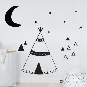 AD-Zif - Autocollant Mural - Grand Tipi