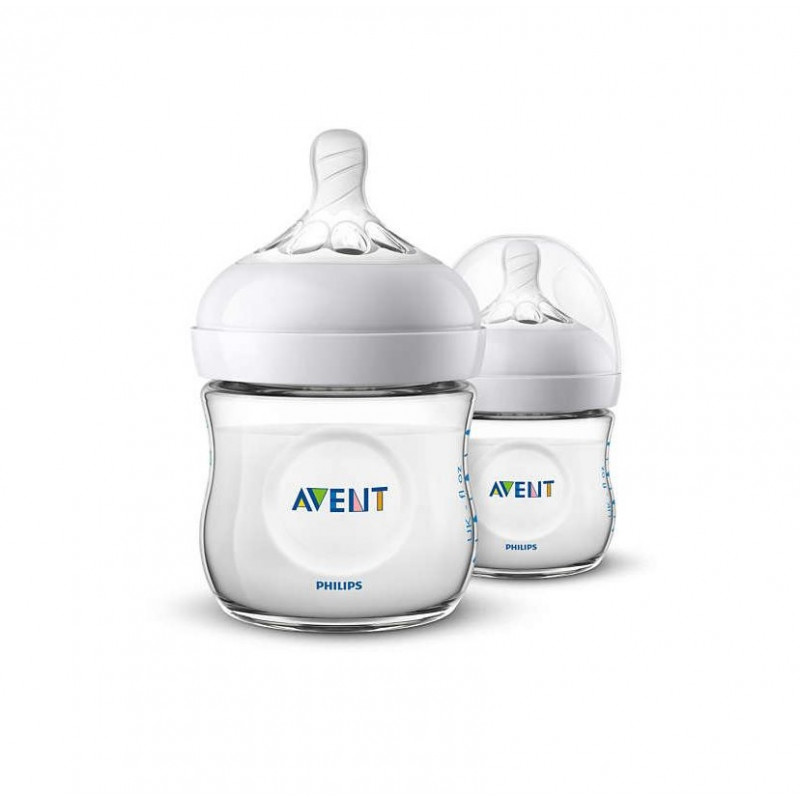 Avent - Natural Baby Bottle 4oz (2 Pack)