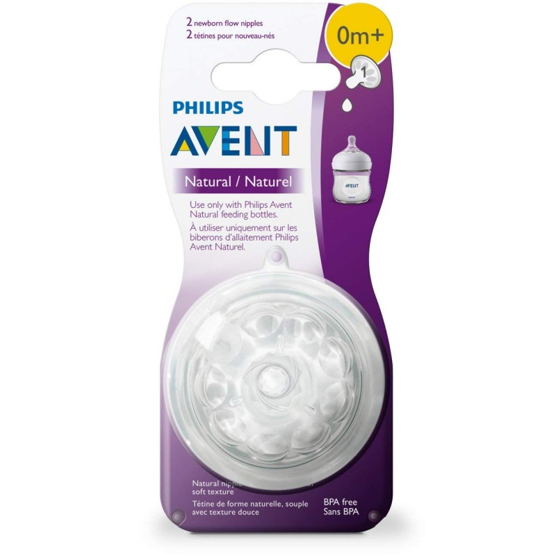 Avent - Natural Newborn Nipple 0m+