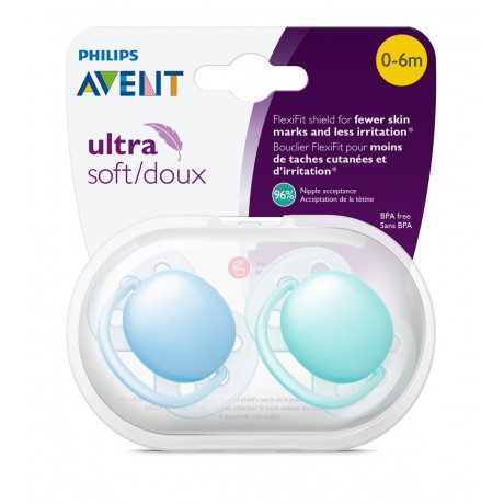 Avent - Ultra Soft Pacifiers 6-18M
