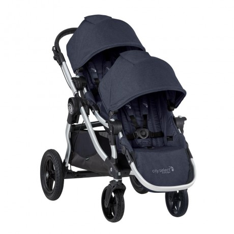 Baby Jogger - City Select Stroller + Second Seat - Silver Frame