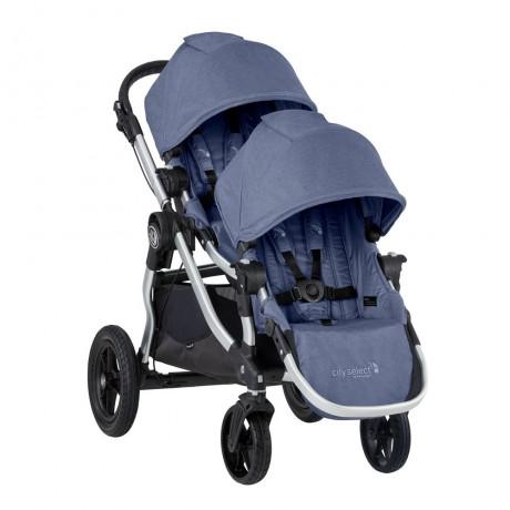 Baby Jogger - Poussette City Select + Deuxième Siège - Cadre Argent