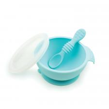 Bumkins - Silicone First Feeding Set - Blue