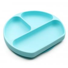 Bumkins - Silicone Grip Dish - Blue