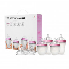 Comotomo - Baby Bottle Bundle - Pink