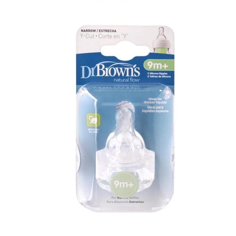 Dr. Brown's - Natural Flow Y-cut Standard Nipples 9m+ 2pk