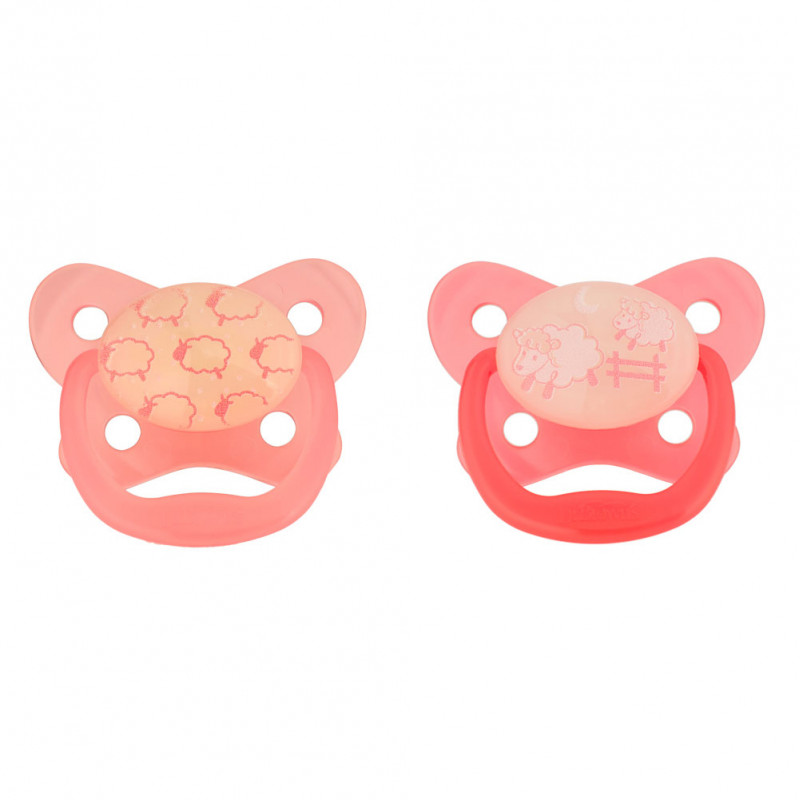 Dr. Brown's - PreVent Glow in the Dark Pacifiers - Pink