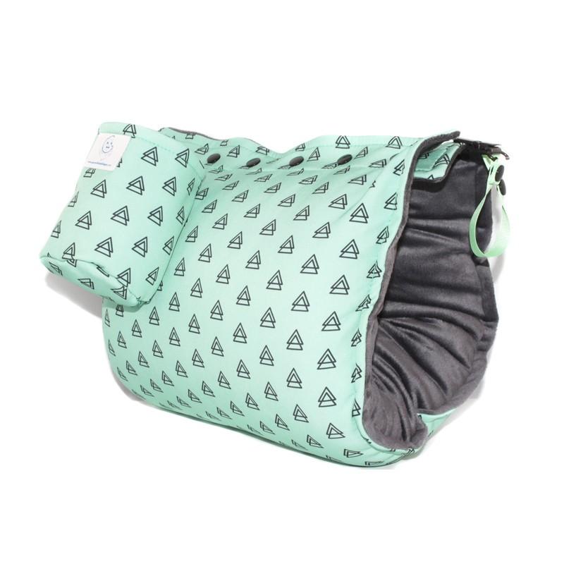 GB Maternité - Manchon d'allaitement multifonctionnel - Mint Green Triangles