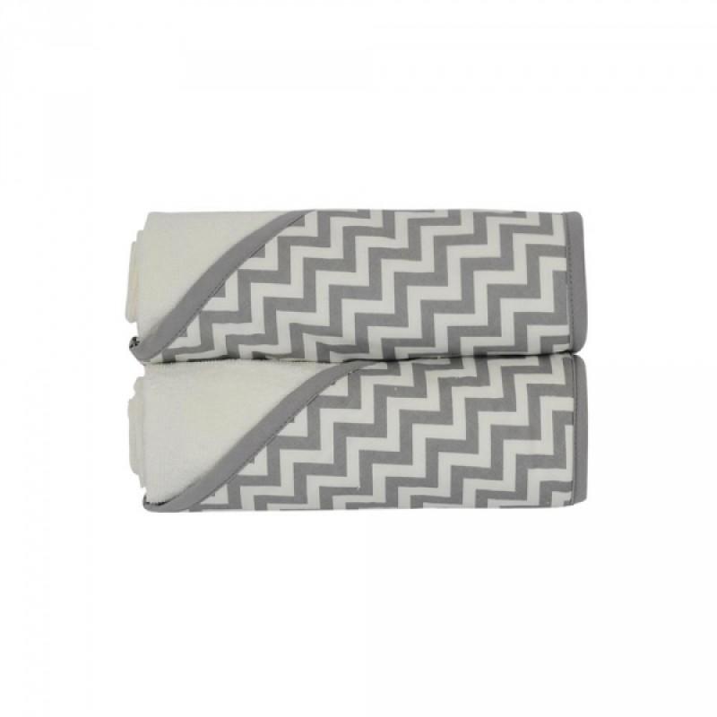 KidiComfort - Hodded Towels 2 Pack - Grey