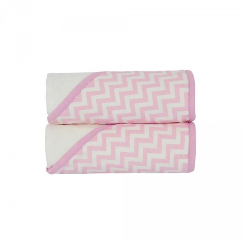 KidiComfort - Hodded Towels 2 Pack - Pink