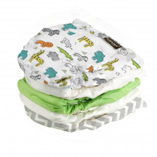 Kushies - Ultra-Lite Washable Diapers 5pk (22-45 lbs)