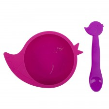 Kushies - Silibowl - Silicone bowl and spoon set