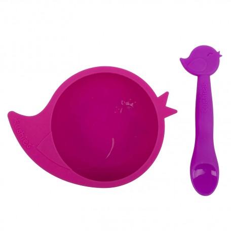 Kushies - Silibowl - Silicone bowl and spoon set