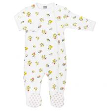 Kushies - Pyjamas à glissière latérale pour fille - Jardin de fleurs 3M