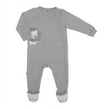 Kushies - Classics Side Zip Sleeper - Heather Lt. Grey
