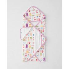 Little Unicorn - Hooded Towel and Washcloth Set - Brain Freeze