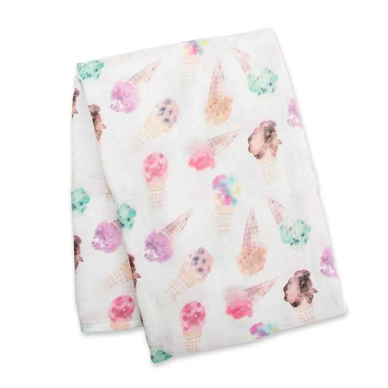 Lulujo - Bamboo Muslin Swaddle Blanket