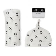Lulujo - Hello World Blanket & Hat - XO