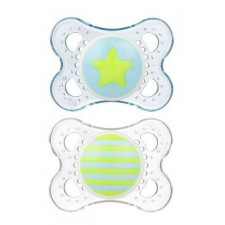 MAM - Clear Pacifiers 0-6m