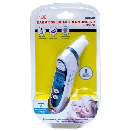 Mobi - Thermomètre Prime pour oreille et front DualScan