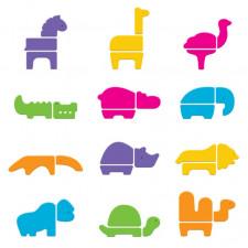 Munchkin - Safari Bath Faom Puzzle Set