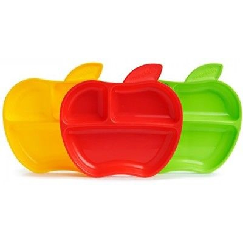Munchkin - Lil' Apple Plates 3Pk