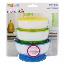 Munchkin - Stay-Put Suction Bowls - 3 Pack