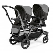 Peg Perego - Duette Piroet Double Stroller - City Grey