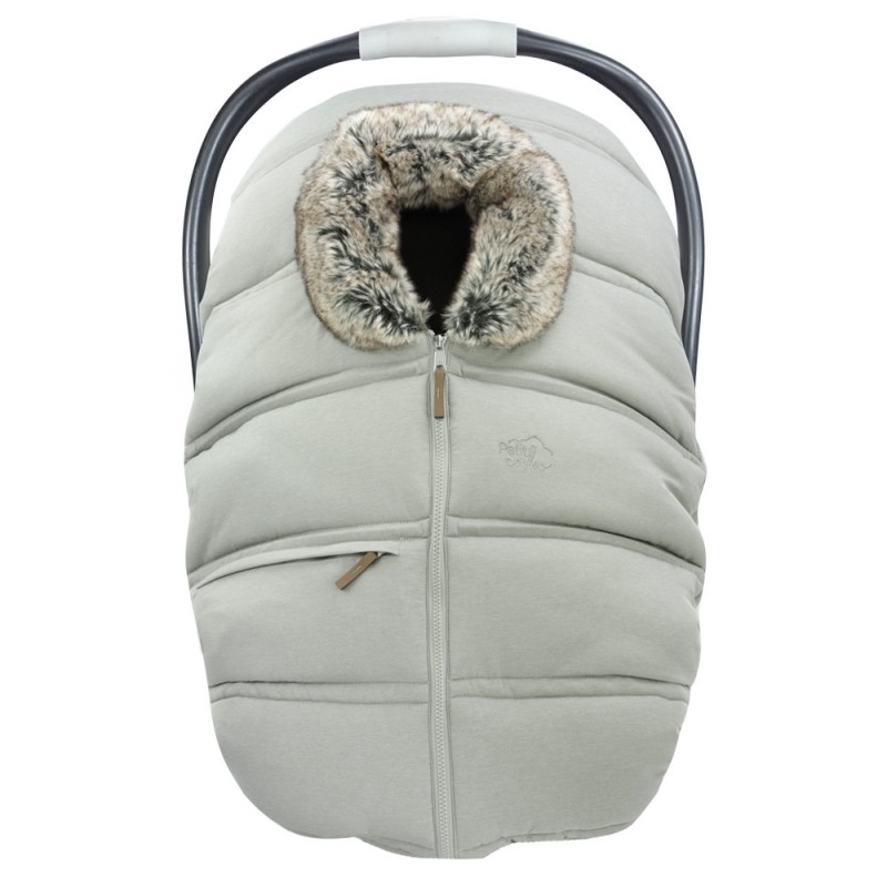 Petit Coulou - Winter Car Seat Cover - Greige/Wolf