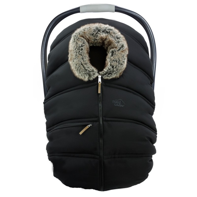 Petit Coulou - Winter Car Seat Cover - Black/Wolf