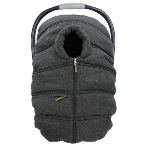 Petit Coulou - Winter Car Seat Cover - Dark Grey/Wool