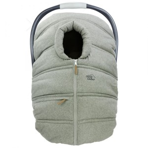 Petit Coulou - Winter Car Seat Cover - Light Grey / Wool