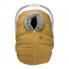 Petit Coulou - Winter Car Seat Cover - Curry/Wolf