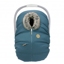 Petit Coulou - Winter Car Seat Cover - Teal/Wolf