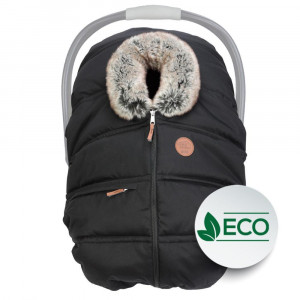 Petit Coulou - Winter Car Seat Cover - Eco Ebony/Wolf