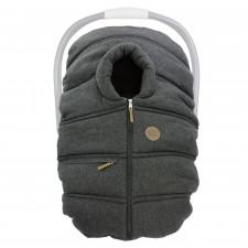 Petit Coulou - Winter Car Seat Cover - Dark Grey/Wool