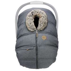 Petit Coulou - Winter Car Seat Cover - Anthracite/Wolf