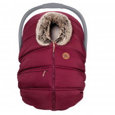 Petit Coulou - Winter Car Seat Cover - Grenadine/Wolf
