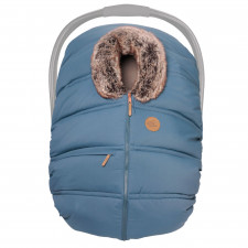 Petit Coulou - Winter Car Seat Cover - Macaroon/Wolf