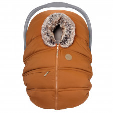 Petit Coulou - Winter Car Seat Cover - Pecan/Wolf