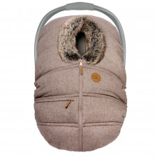 Petit Coulou - Winter Car Seat Cover - Nougat Wool/Wolf