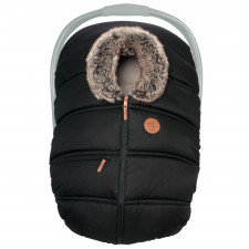 Petit Coulou - Winter Car Seat Cover - Licorice Eco/Wolf