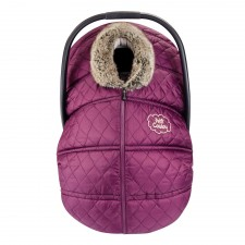 Petit Coulou - Winter Car Seat Cover - Burgundy/Sand