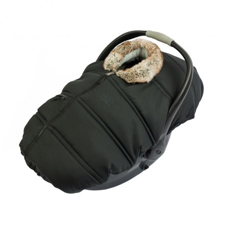 Petit Coulou - Winter Car Seat Cover - Black/Brown