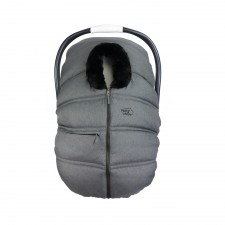 Petit Coulou - Winter Car Seat Cover - Grey/Black