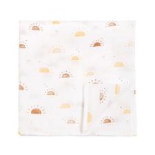 Petit Lem - Muslin Swaddle Blanket - Suns