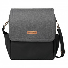 Petunia Pickle Bottom - Boxy Backpack Diaper Bag - Graphite/Black