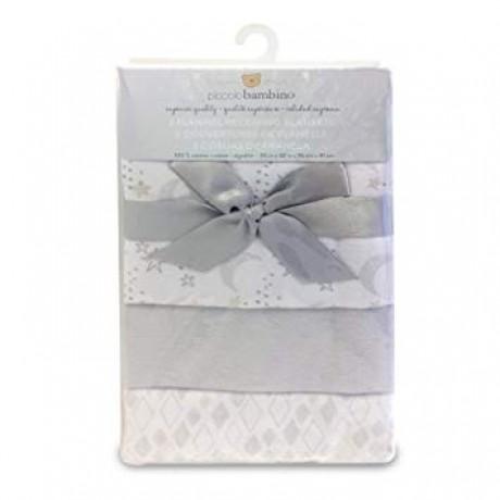 Piccolo Bambino - 3 Flannel Receving Blankets